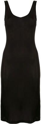 Lisa Von Tang Silk Fitted Tank Dress