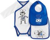 Little Marc Jacobs Long-Sleeve Astronaut Playsuit & Bib Set, Off White, 3-12 Months