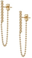 Candela 10K Yellow Gold Milgrain Bar Chain Drop Earrings