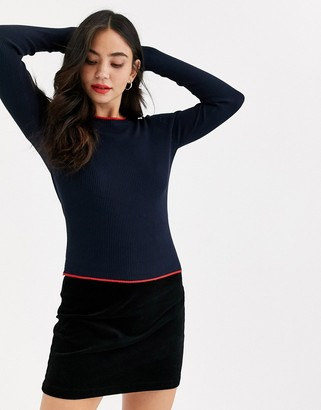 JDY long sleeve round neck jumper-Navy