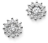 KC Designs 14K White Gold Diamond Sunburst Earrings