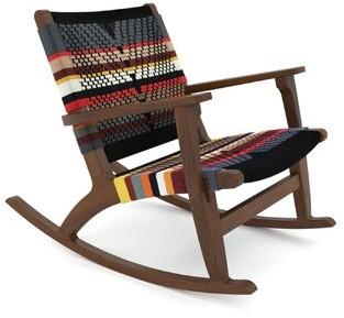 Masaya & Co Rocking Chair Color: Walnut