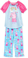 Komar Kids 2-Pc. Peppa Pig Rainbow Pajama Set, Toddler Girls (2T-4T)