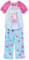 Peppa Pig 2-Pc. Rainbow Pajama Set, Toddler Girls (2T-5T)