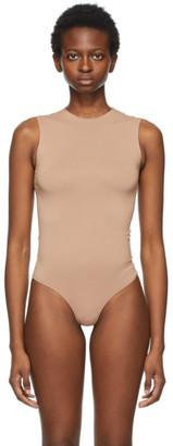 SKIMS Beige Essential Thong Bodysuit