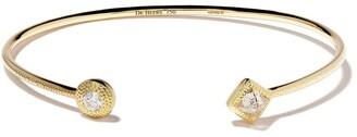 De Beers 18kt yellow gold Talisman diamond cuff