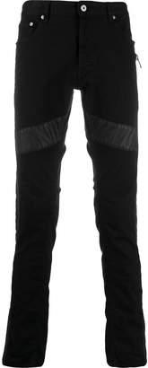 Just Cavalli leather panel jeans