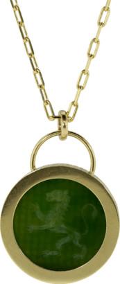 Retrouvai Jade Lion Fantasy Pendant Necklace