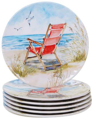 Certified International Ocean View Melamine 6-Pc. Salad Plate Set
