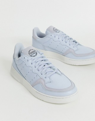 adidas supercourt trainers in blue leather-White