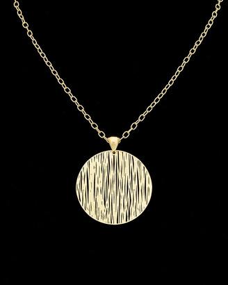Meshmerise 14K Italian Gold Filigree Disc Necklace