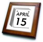 3dRose LLC ft_174528_1 Florene - Humor - image of calendar page turned to april 15 - Framed Tiles