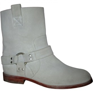 Maison Margiela \N Ecru Suede Ankle boots