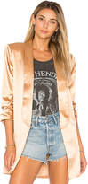 House Of Harlow x REVOLVE Chloe Boyfriend Jacket in Metallic Gold. - size L (also in M,S,XL,XS)