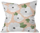 DENY Designs Romantic Floral Throw Pillow