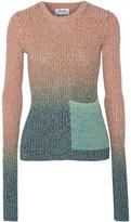 Acne Studios Rasha Dégradé Ribbed Cotton-blend Sweater - Antique rose