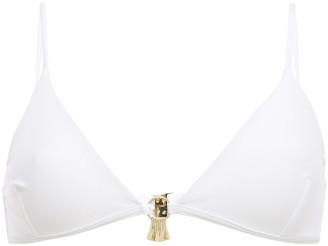 Melissa Odabash Como Embellished Triangle Bikini Top