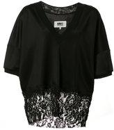 MM6 MAISON MARGIELA lace hem blouse - women - Cotton/Viscose/Polyimide - M
