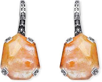 Stephen Dweck Galactical Doublet Drop Earrings in Pink Mother-of-Pearl