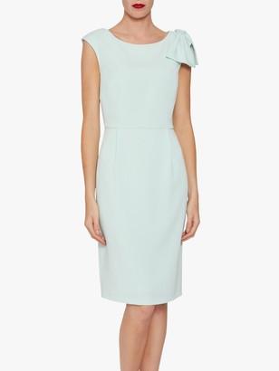 Gina Bacconi Gratia Moss Crepe Shift Dress