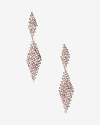 Express Rhinestone Post Back Drop Earrings