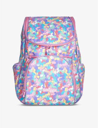 Illusion Reflective Access unicorn-print woven backpack