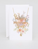 Orelia Happy Mothers Day Necklace Gift Card