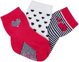 Robeez 3 Pack Whale Socks (Baby) - Bright Pink/Fuchsia-0-6 Months