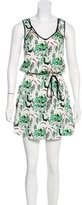 Veronica Beard Abstract Print Silk Dress