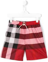 Burberry check swimwear