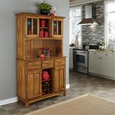 Home Styles Large Serving Buffet with Hutch - Warm Oak