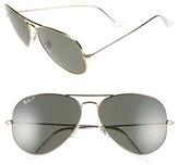 Ray-Ban Men's 'Aviator' Polarized 62Mm Sunglasses - Gold