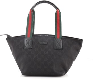 Gucci Web Zip Tote GG Canvas Medium