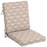 Cooper Deco Geo High Back Outdoor Dining Chair Cushion Charlton Home