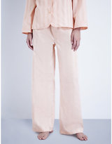 Bodas Shadow Stripe cotton pyjama bottoms