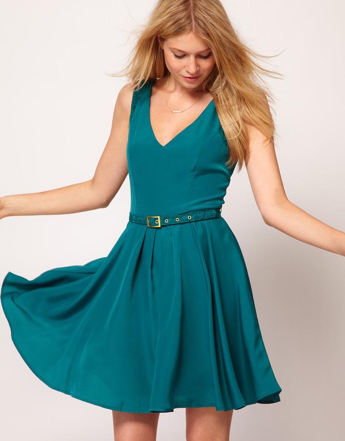 Oasis Lace Trim Dress