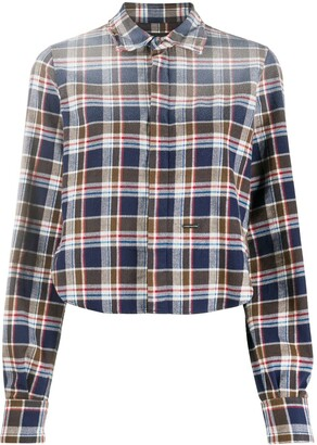 DSQUARED2 Faded-Effect Flannel Shirt