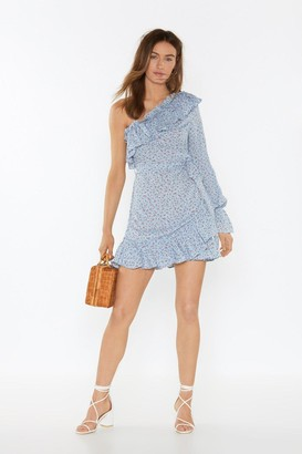 Nasty Gal Womens Our Options Are Open Floral Dress - Blue - 10