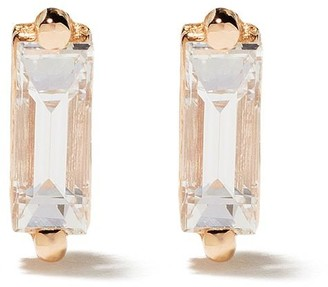 Suzanne Kalan 18kt Rose Gold Diamond Baguette Post Earrings