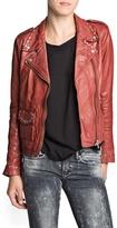 MANGO Outlet Studded Leather Biker Jacket