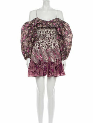 Ulla Johnson Printed Mini Dress w/ Tags Purple
