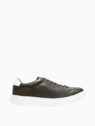 Calvin Klein Falconi Tumbled Leather Sneaker