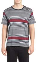Daniel Buchler Stripe Silk & Cotton T-Shirt