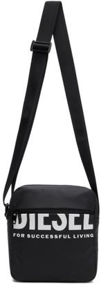 Diesel Black F-Bold Doublecross III Messenger Bag