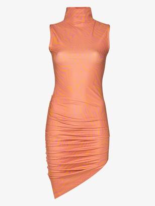 MAISIE WILEN Orange Graphic Print Mini Dress