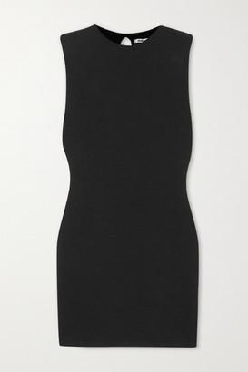 Reformation Net Sustain Rumi Stretch-tencel Mini Dress - Black