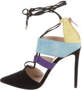 Ruthie Davis Stick Colorblock Suede Pumps