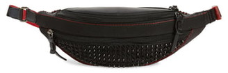 Christian Louboutin ParisNYC Spiked Nylon & Leather Belt Bag
