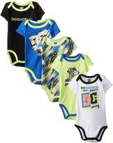 DC Co Baby-Boys Newborn 5 Pack Bodysuits-Blue Lime Black Group