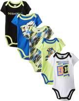DC Co Baby-Boys Newborn 5 Pack Bodysuits-Blue Lime Black Group